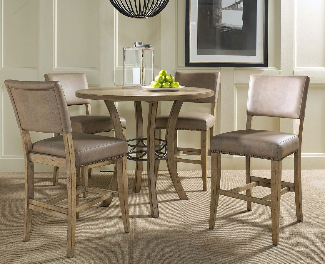 hillsdale charleston dining table round dining charleston counter height dining set w parson stools w hillsdale