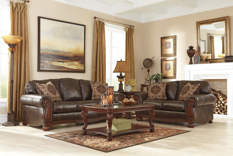 Rodlann DuraBlend Antique Living Room Set BenchCraft | Furniture Cart