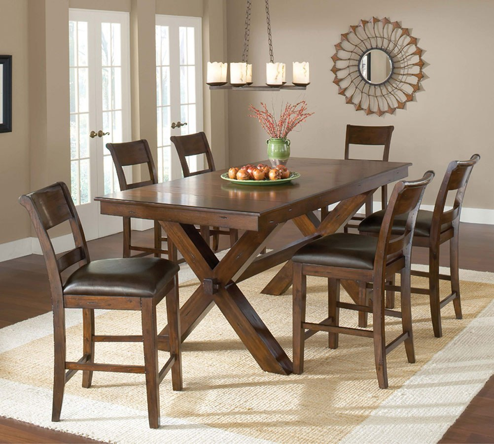 Cherry Dining Room Set: Park Avenue Counter Height Dining Room Set (Dark Cherry
