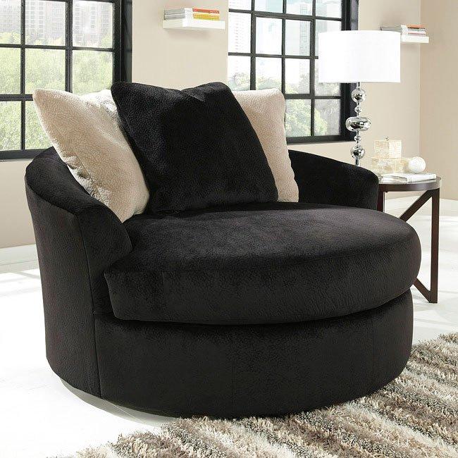 Prime Heflin Ebony Oversized Swivel Accent Chair Creativecarmelina Interior Chair Design Creativecarmelinacom