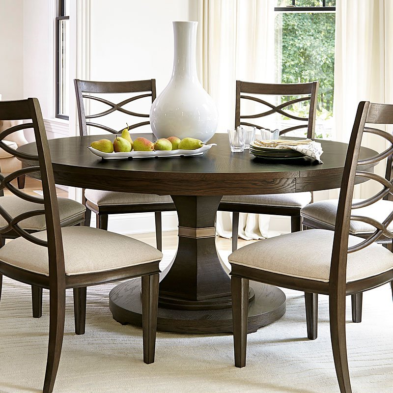 California Round Dining Set W Upholstered Chairs