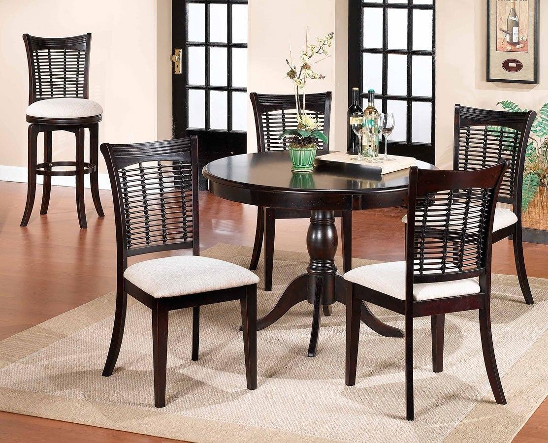dark cherry dining room set | Bayberry Round Dining Room Set (Dark Cherry) Hillsdale ...