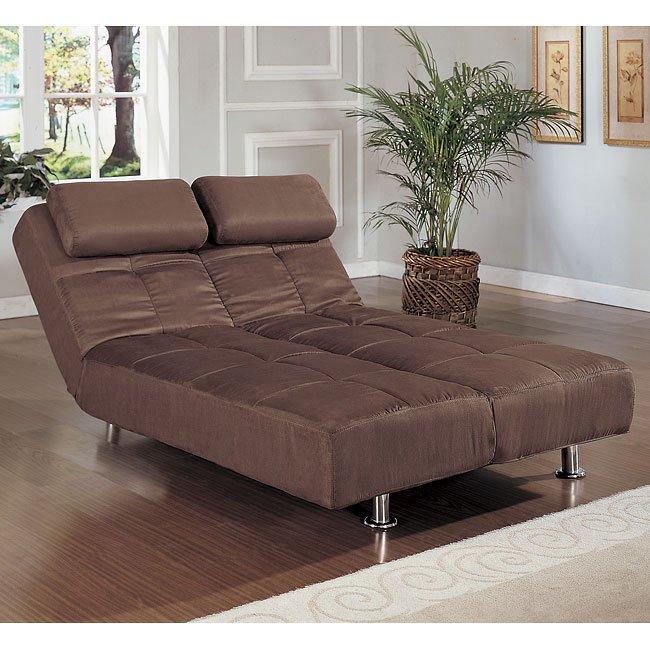 Brown Microfiber Sofa Bed Homelegance   Furniture Cart