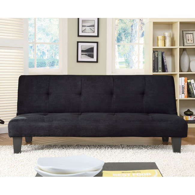 Albert Elegant Sofa Bed (Black)
