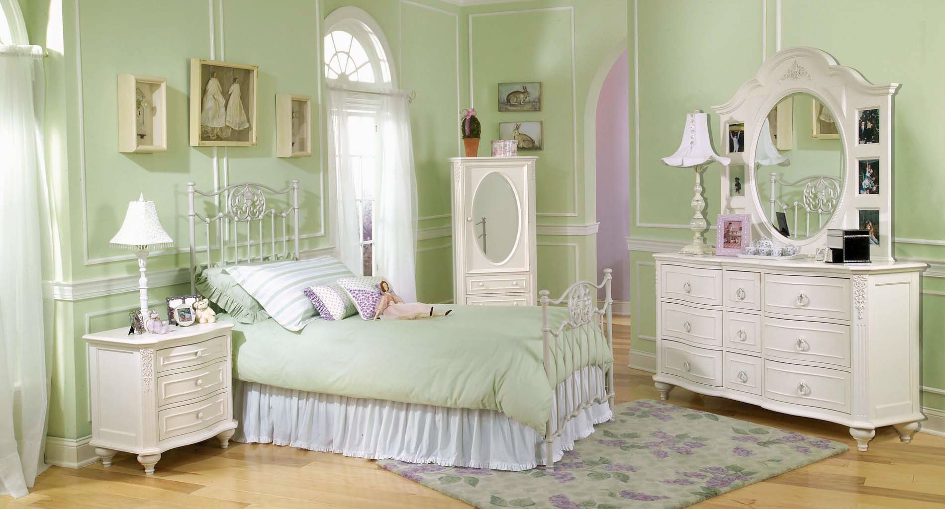 Enchantment White Metal Bedroom Set Legacy Classic Kids | Furniture Cart
