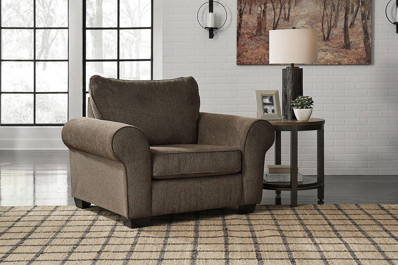 nesso walnut living room set benchcraft  furniture cart