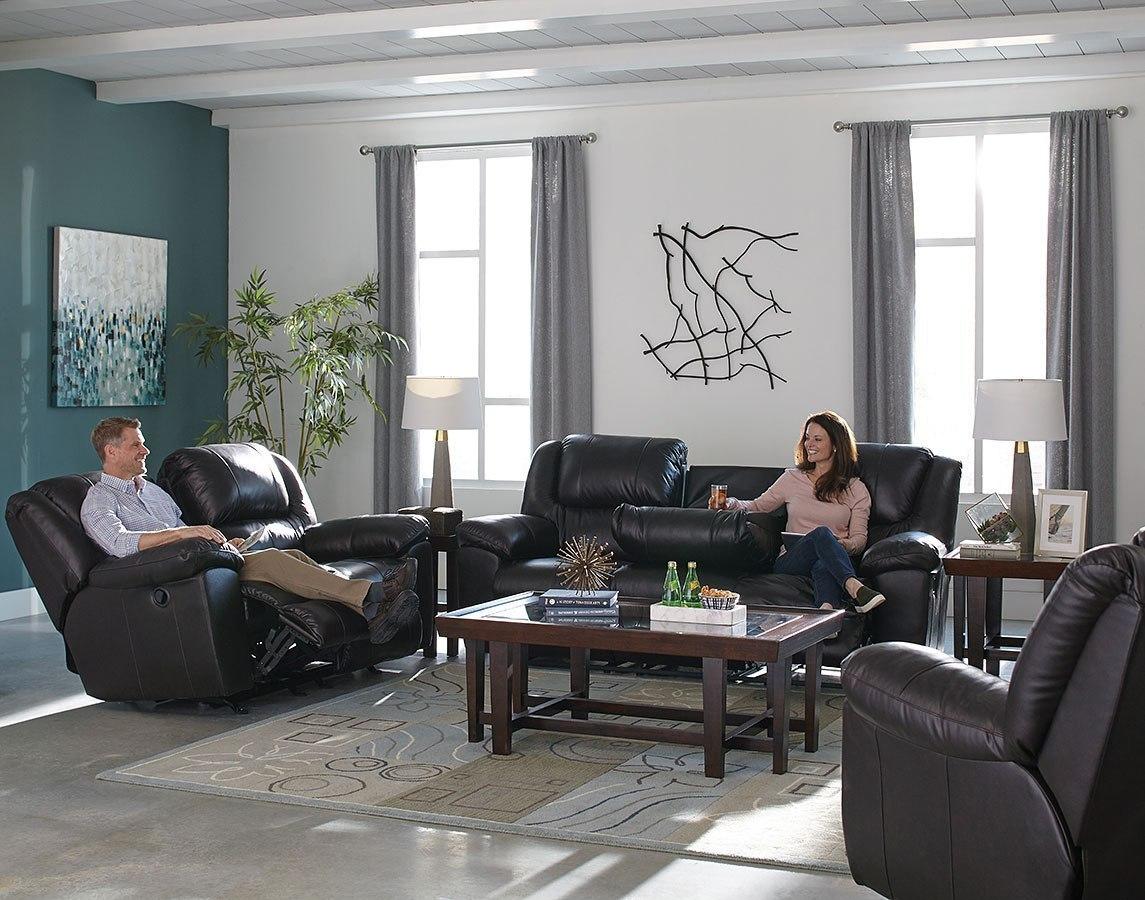 Transformer ii power reclining living room set chocolate - Chocolate leather living room furniture ...