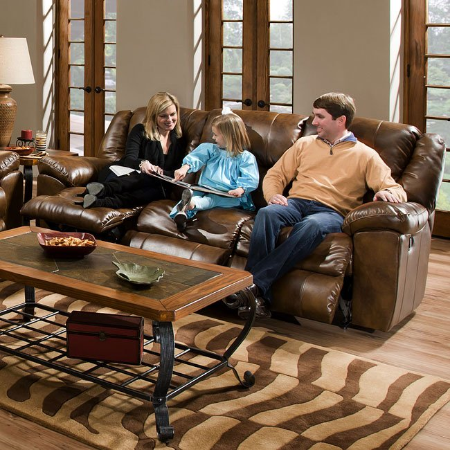 Transformer Leather Sofa W 3 Recliners By Catner
