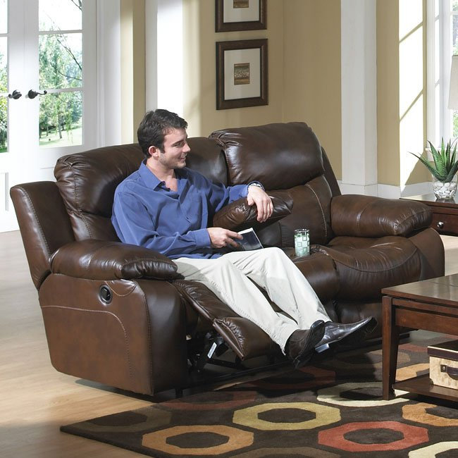 Marvelous Dallas Reclining Loveseat W Console Ocoug Best Dining Table And Chair Ideas Images Ocougorg