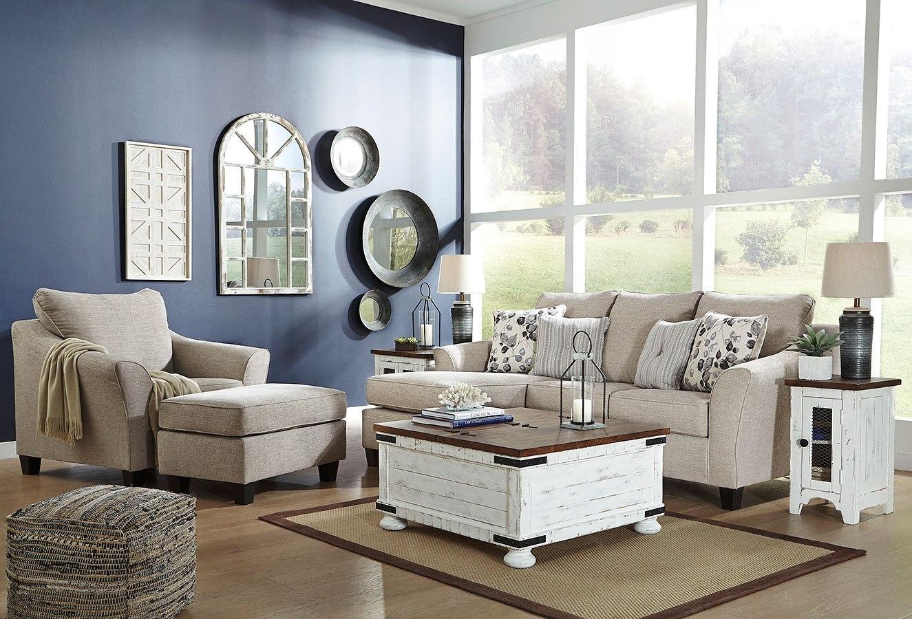 Abney Driftwood Living Room Set Signature Design By Ashley