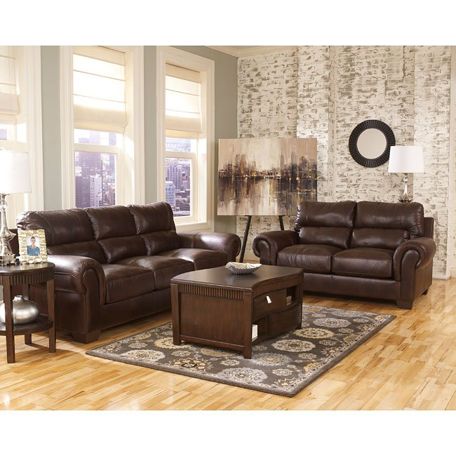 Vevinia Chestnut Living Room Set