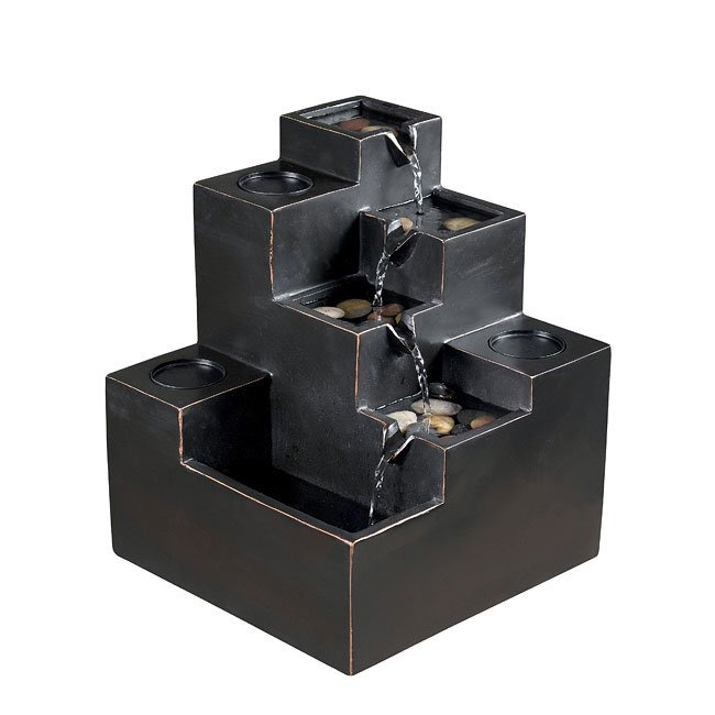 Stacks Indoor Table Fountain (Black)