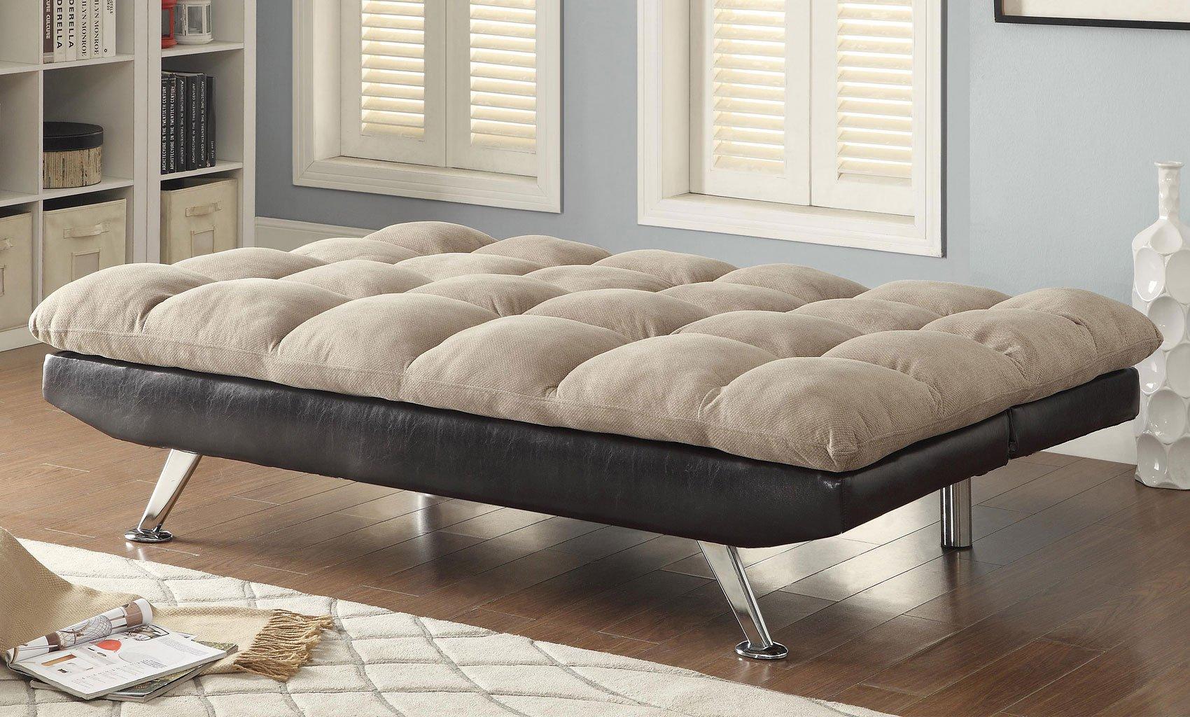 Plush Microvelvet Sofa Bed Coaster Furniture   Furniture Cart