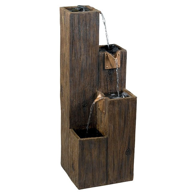 Timber Indoor/Outdoor Floor Fountain (Wood Grain)