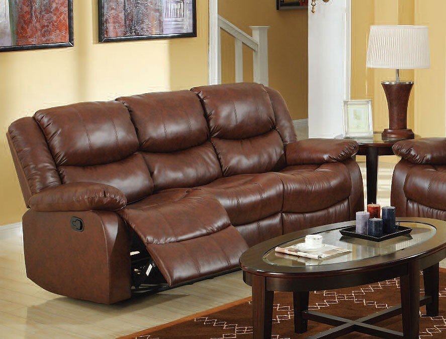 Fullerton Reclining Sofa Brown Acme Furniture