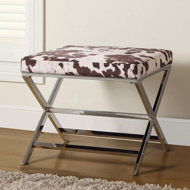 Ashley Furniture Flagstaff: Cow Print Ottoman Coaster Furniture