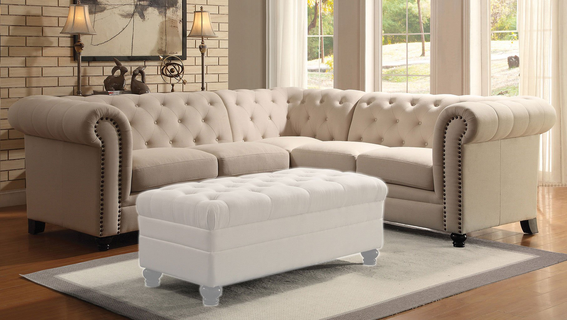 Roy Sectional (Oatmeal)