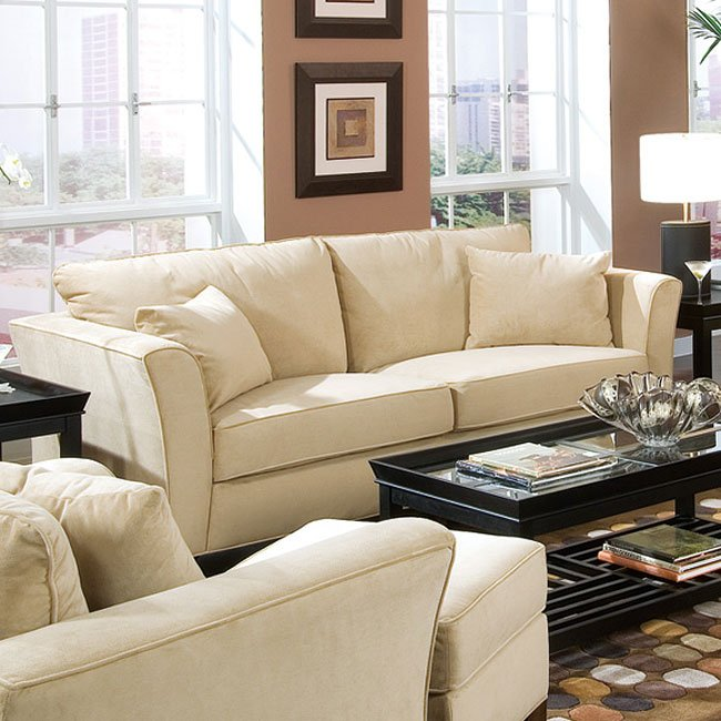 Park Place Cream Living Room Set Coaster Furniture