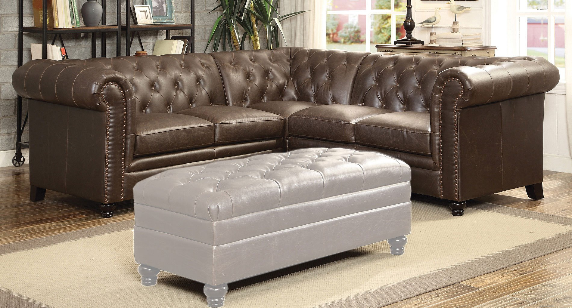 Roy Sectional (Brown) By Coaster Furniture