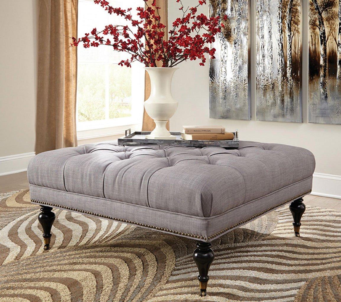 Ashley Furniture Flagstaff: Tufted Square Ottoman Coaster Furniture