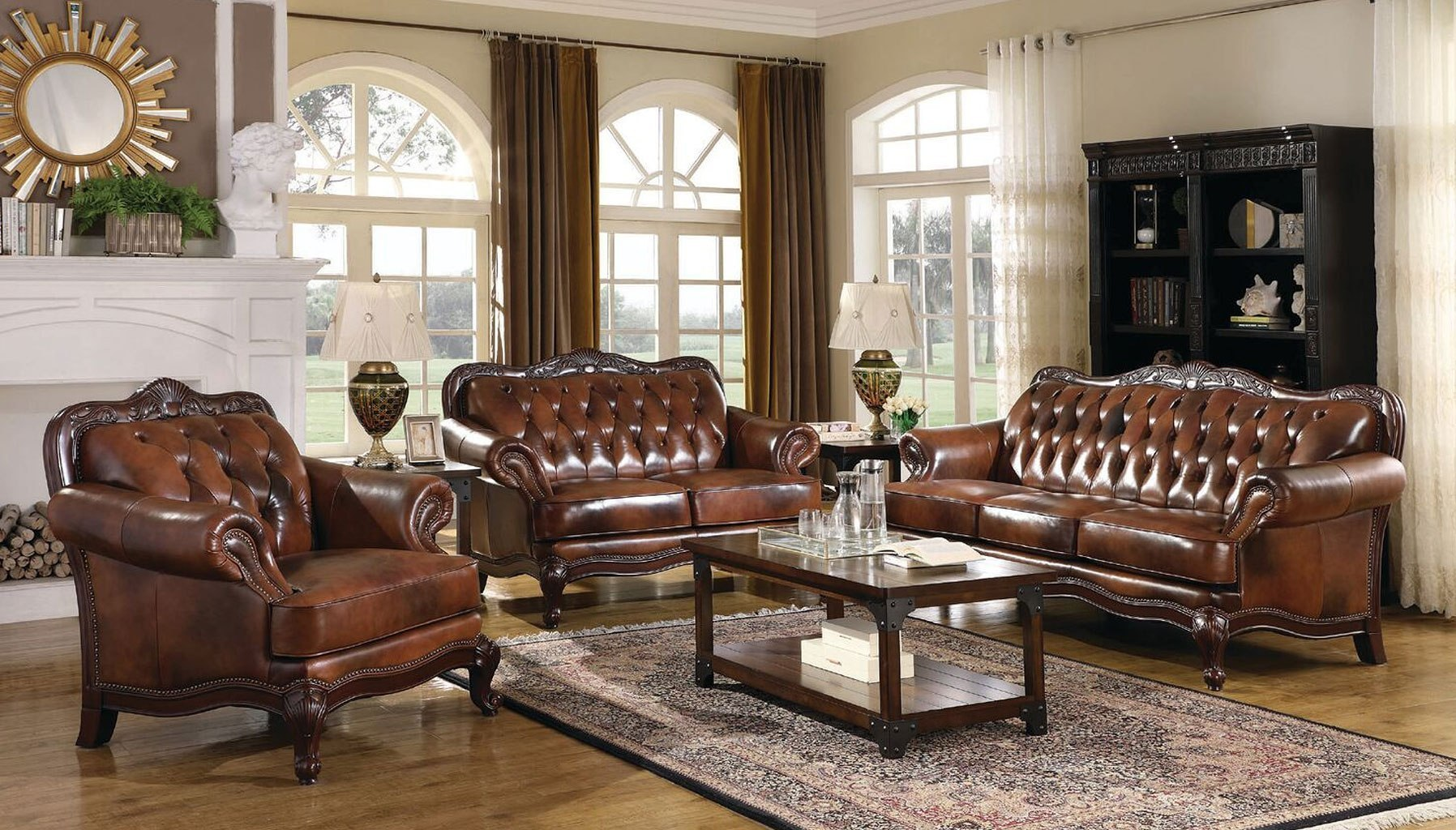 Victoria Leather Living Room Set Coaster Furniture 5 Reviews Furniture Cart