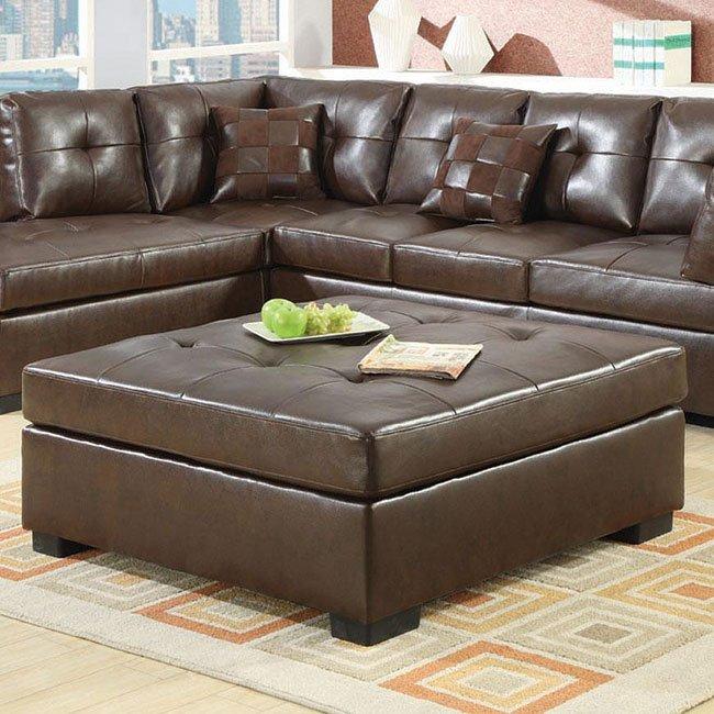 Darie Ottoman Brown Coaster Furniture Furniture Cart