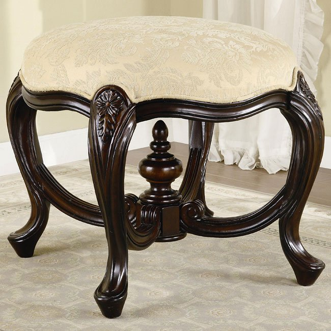 Traditional Upholstered Stool