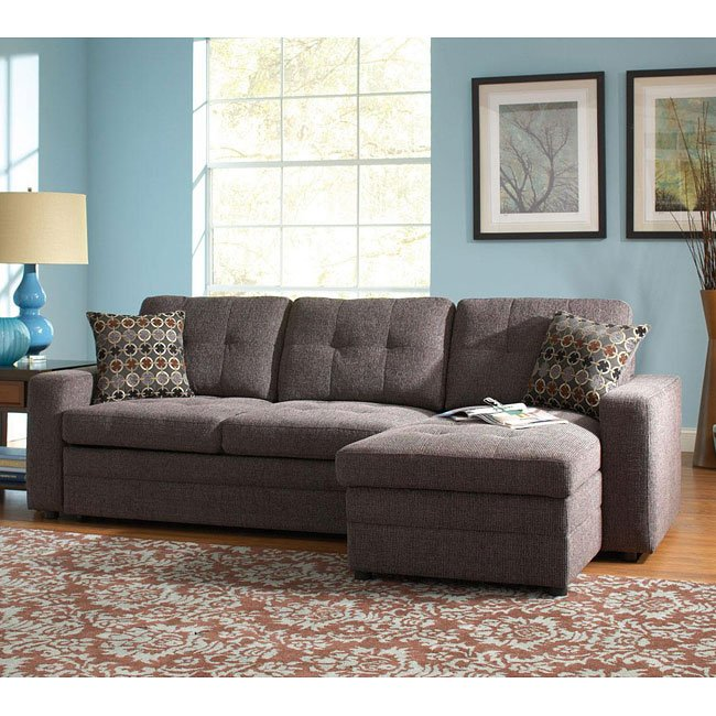 Gus Right Chaise Sectional w/ Pull-Out Bed