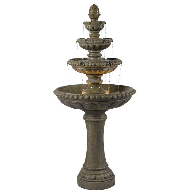 Rialto Outdoor Floor Fountain (Tuscan Earth)
