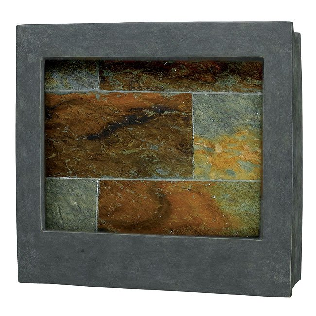 Eagle Square Indoor Wall Ftn (Natural Slate)