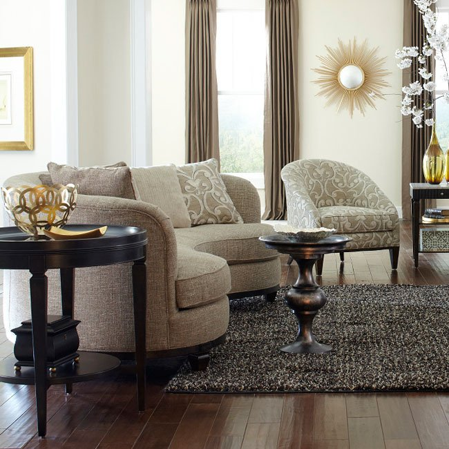 Blair Fawn Living Room Set W/ 84 Inch Sofa ART Furniture