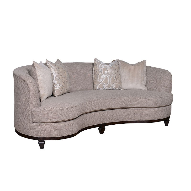Blair Fawn 84 Inch Kidney Sofa