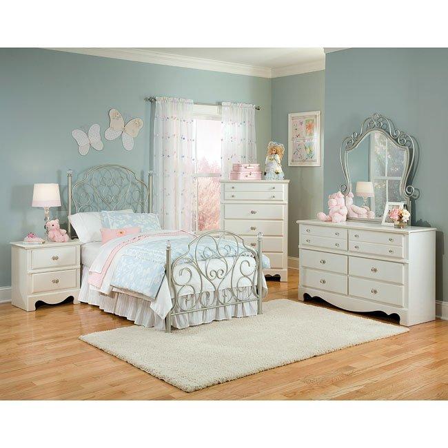 Spring Rose Metal Bedroom Set Standard Furniture 1