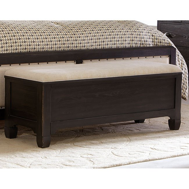 Town And Country Bed Bench (Black) Liberty Furniture | Furniture Cart