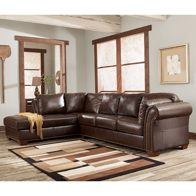 Marlo Mahogany Sectional Living Room Set Signature