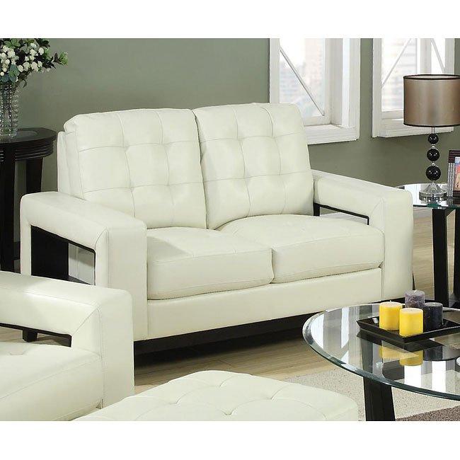 Paige Living Room Set (Cream) Coaster Furniture