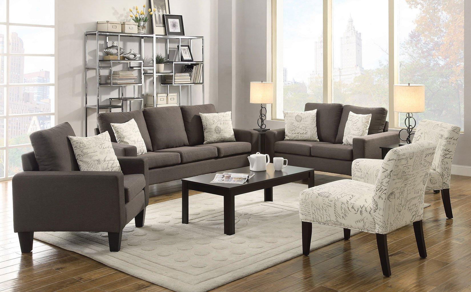 Bachman Living Room Set (Grey)