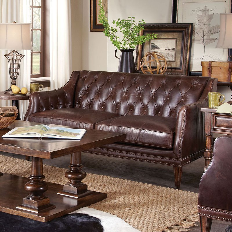 kennedy walnut leather settee art furniture furniture cart. Black Bedroom Furniture Sets. Home Design Ideas