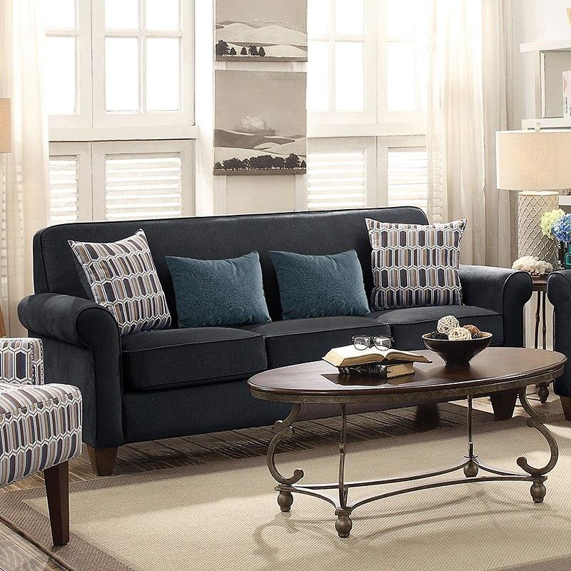 Gideon Sofa Graphite Coaster Furniture Furniture Cart