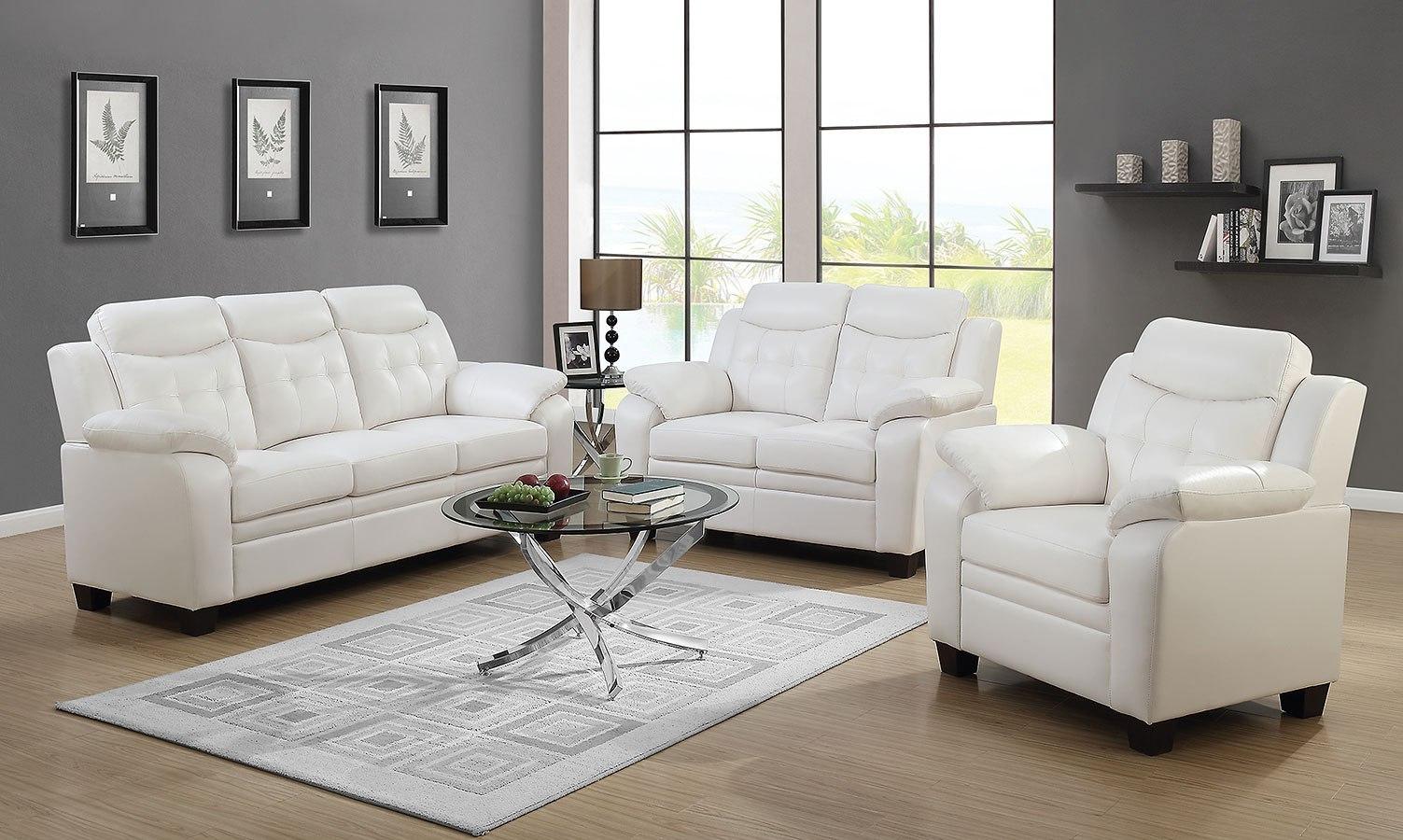 Finley living room set snow white coaster furniture furniture cart
