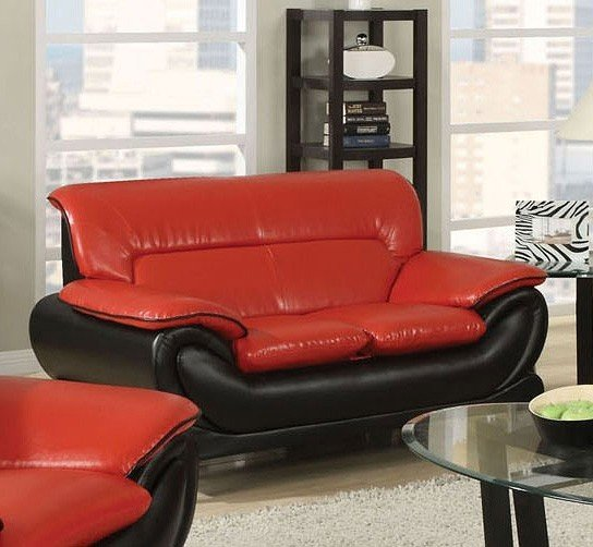 Orel Loveseat Red And Black