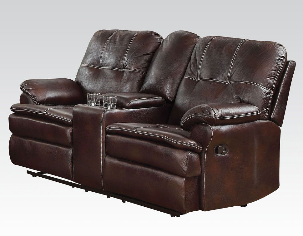 Amazing Zamora Reclining Loveseat W Console Caraccident5 Cool Chair Designs And Ideas Caraccident5Info