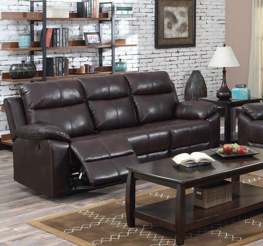 Dyson Reclining Sofa (Burgundy)