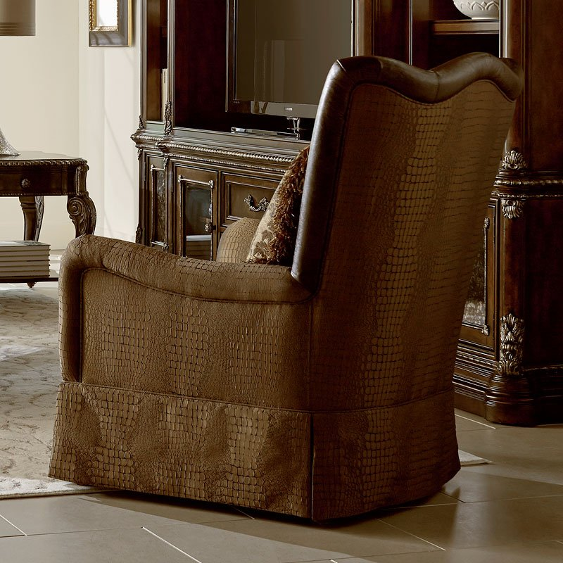 Giovanna Sable Skirted Accent Chair Art Furniture