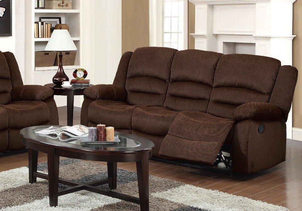 Bailey Reclining Sofa (Chocolate) Acme Furniture