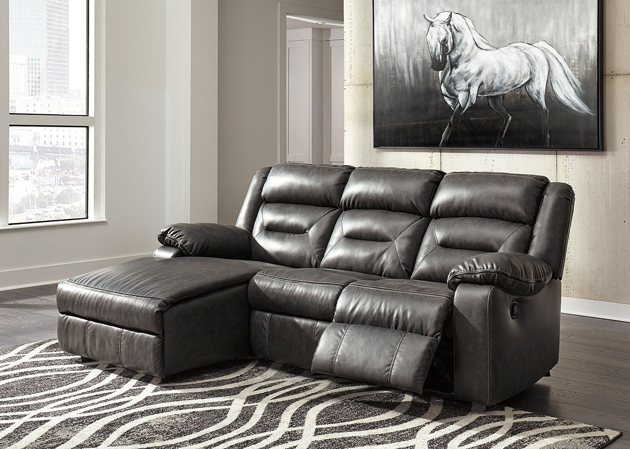 Coahoma Dark Gray Small Modular Left Chaise Sectional ...