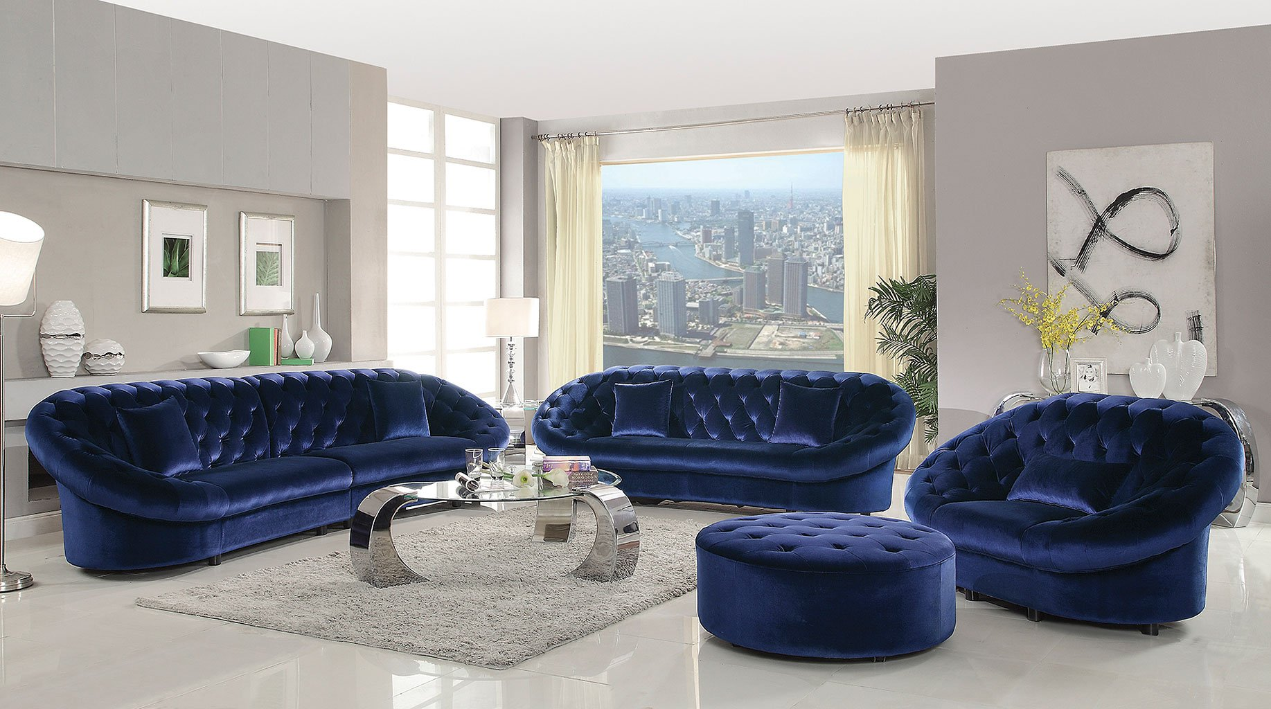 Royal Blue Coaster Furniture
