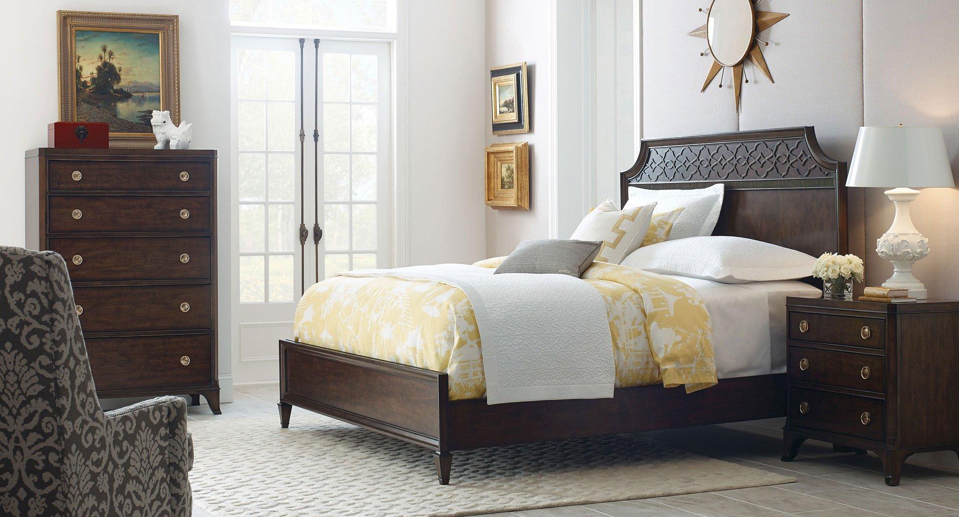 Grantham Hall Panel Bedroom Set American Drew Furniture Cart