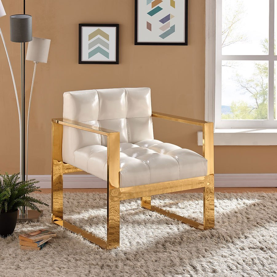 Pleasing Mia Leather Accent Chair White Ibusinesslaw Wood Chair Design Ideas Ibusinesslaworg