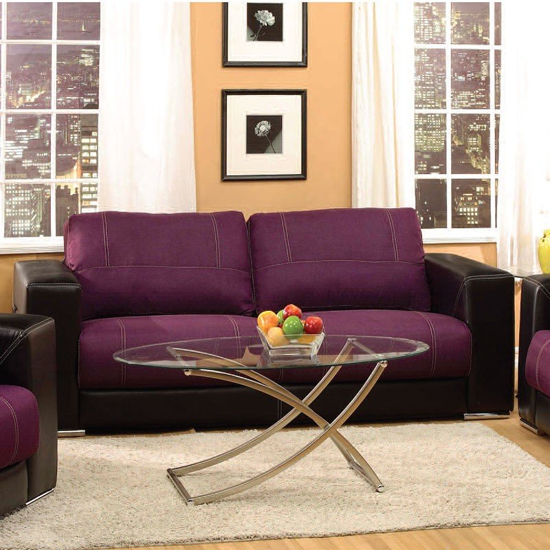 Brayden Sofa (Purple And Black) Acme Furniture